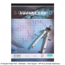 A4 Square Ruled Pad -...