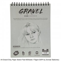 Gravel Spiral Grey Sketch Pad