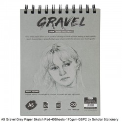 A5 Gravel Grey Paper Sketch...