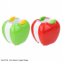 Deli 9139 Apple Shape Pen Stand in Red and Green color