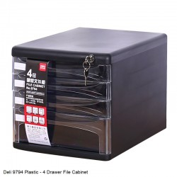 Deli 9794 Desktop File Cabinet with Lock and Key