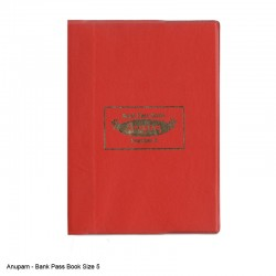 Bank Pass Book Size 5