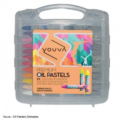 Yuova Oil Pastels 24 Shades in a plastic case