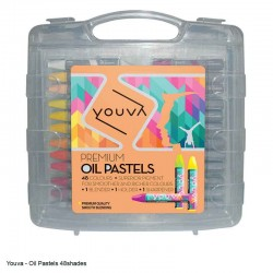Yuova Oil Pastels 48 Shades in a plastic case