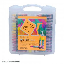 Yuova Oil Pastels 60 Shades in a plastic case