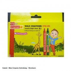 Camel Extra Long Wax Crayons 16Shades