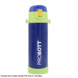 PB 320-02 Probott  Stainless steel double wall vacuum flask MINI With belt  -Blue