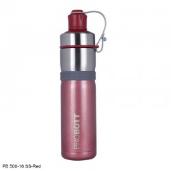 PB 500-16 Probott Stainless steel double wall vacuum flask - Red
