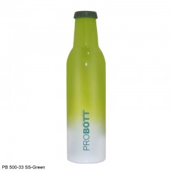 PB 500-33 Probott Stainless steel double wall vacuum flask COLD DRINK  -Green