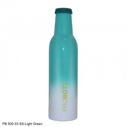 PB 500-33 Probott Stainless steel double wall vacuum flask COLD DRINK  -Light Green