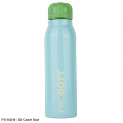 PB 600-01 Probott Stainless steel double wall vacuum flask  -Cadet Blue