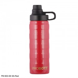 PB 600-06 Probott Stainless steel double wall vacuum flask SPECTRA  -Red