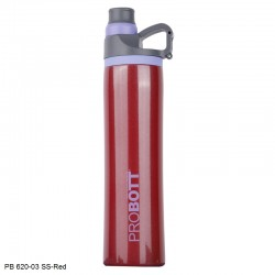 PB 620-03 Probott Stainless steel double wall vacuum flask Flip  -Red