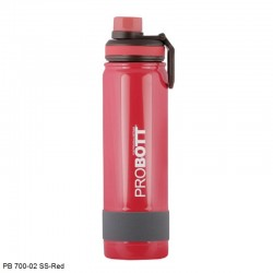 PB 700-02 Probott Stainless steel double wall vacuum flask RAINBOW 700ml -Red