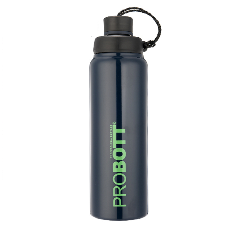 PB 750-13 Probott Stainless steel double wall vacuum flask SIPPY  -Blue