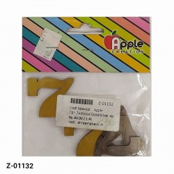 7 Numeric designer cutout in Gold and Silver