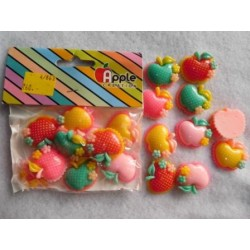 Plastic Candy Dotted Apple 10pc Pack 862