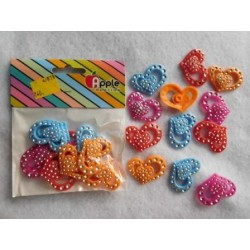 Plastic Heart with Diamonds 10pc Pack 870