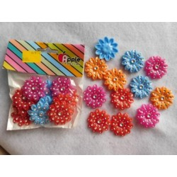 Plastic Flower with Diamonds 10pc Pack 872