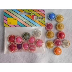 Round Flower Marble with Diamonds 10pc Pack 1305
