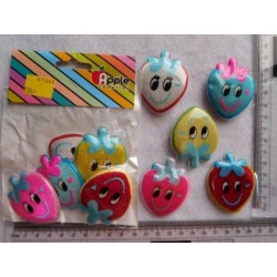 Spongy Badge Strawberry 5pc Pack 1063