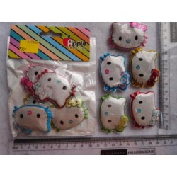 Spongy Badge Kitty 5pc Pack 1064