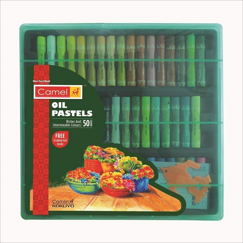 Doms Oil Pastels 50 Shades with Scrapper Free Shipping to USA
