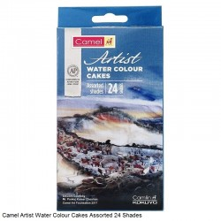 Artist Water Colour Cakes Camlin 24 Shades + 1 Paint Brush