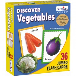 Discover Vegetables- Jumbo Flash cards Creatives