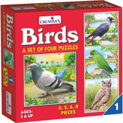Birds – 1 A set of 4 puzzles Creatives Ages 3 & up