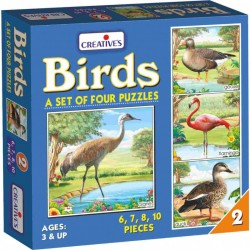 Birds – 2 A set of 4 puzzles Creatives Ages 3 & up
