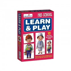 Pre School Learn & Play 12 three pc interchangeable puzzles Creatives Ages 3 & up