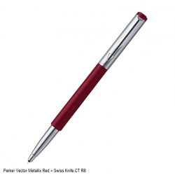 Parker Vector Metallix Red...